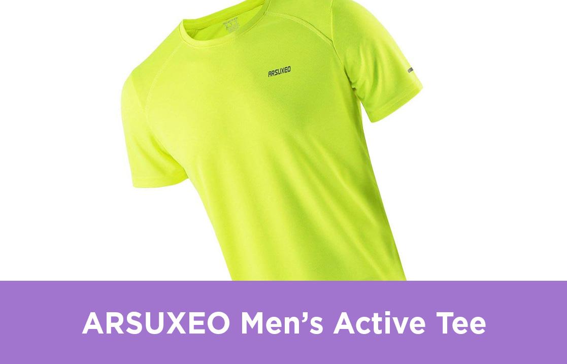 ARSUXEO Men's Active Tee