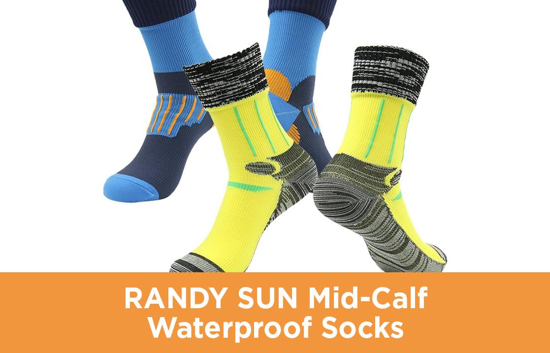 RANDY SUN Mid-Calf Waterproof Socks