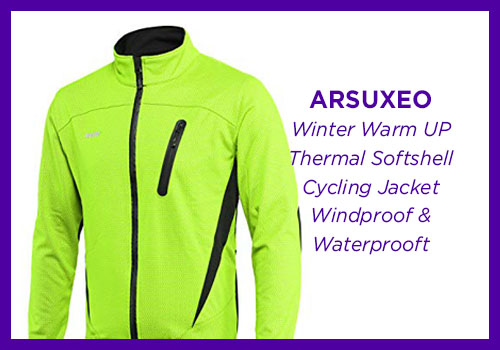 ARSUXEO Winter Warm UP Thermal Softshell Cycling Jacket Windproof & Waterproof