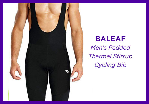 BALEAF Men's Padded Thermal Stirrup Cycling Bib