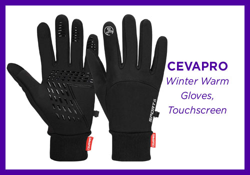 Cevapro Winter Warm Gloves, Touchscreen